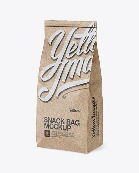 Download Kraft Snack Bag Mockup Half Side View In Bag Sack Mockups On Yellow Images Object Mockups Mockup Free Psd Bag Mockup Mockup