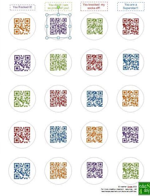 QR Code Sticker sheets, Classroom genius, Qr code