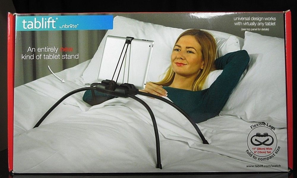 Tablift By Nbryte Ipad Any Brand Tablet Stand Bed Sofa Any Uneven Surface New Nbryte Clever Inventions Tablet Stand Tablet