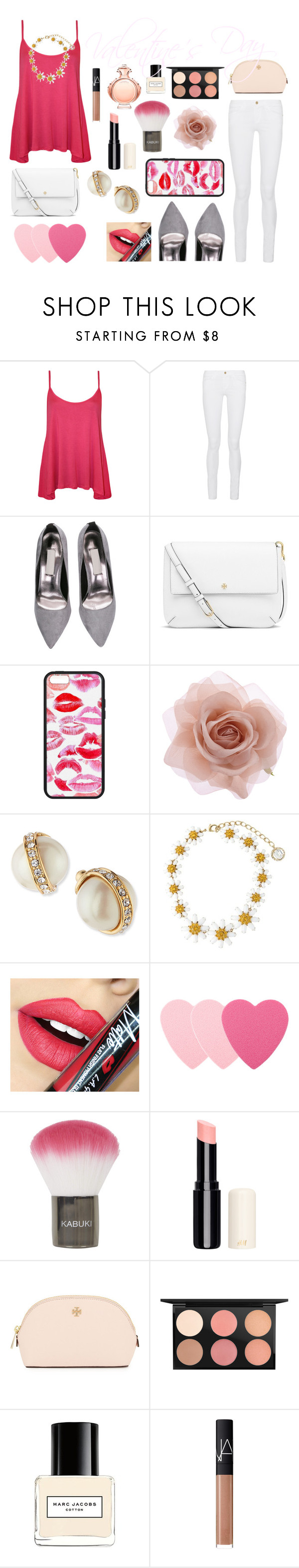 """Happy Valentine's!"" by panda-matowi0715 ❤ liked on Polyvore featuring WearAll, Frame Denim, Tory Burch, Accessorize, Kate Spade, Dolce&Gabbana, Fiebiger, Sephora Collection, Topshop and MAC Cosmetics"