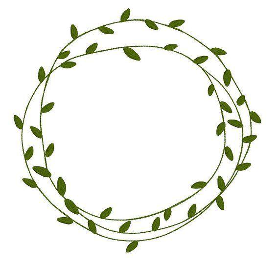 Custom Natural Leaf Frame Simple Leafy Frames Doodles Rustic Blank Machine Embro Ideas Para Logotipo Acuarela De Navidad Adornos Para Cuadernos