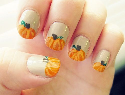 Easy Fall Nail Orange art. Fall Nail Art 2013. - Easy Fall Nail Orange Art. Fall Nail Art 2013. Colorful Nails