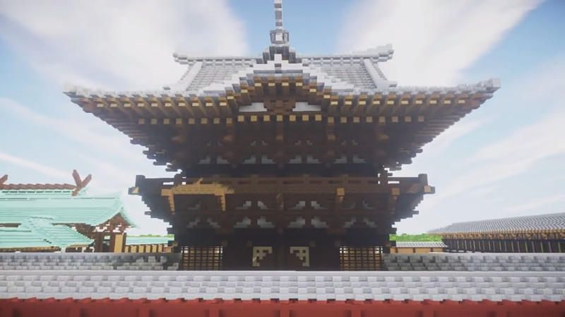 Minecraft chinese players recreated an epic japanese temple map minecraft chinese players recreated an epic japanese temple map publicscrutiny Gallery