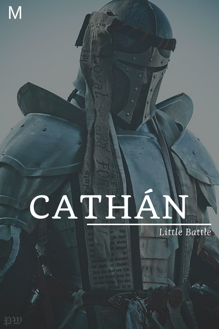 Cathan, meaning Little Battle, Irish names, C baby boy names, C baby names, male names, whimsical baby names, baby boy names, traditional names, names that start with C, strong baby names, unique baby names, masculine names, nature names, character names, character inspiration #babynamesboy