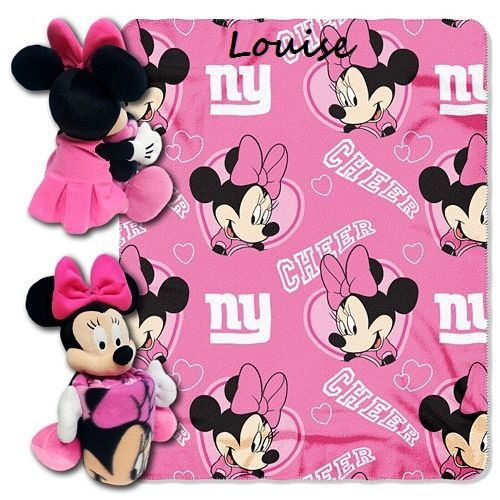 7103ba17b842e Disney Minnie Mouse NFL NY GIANTS Cheerleader Fleece Throw Blanket   Hugger  - Personalized by CACBaskets on Etsy