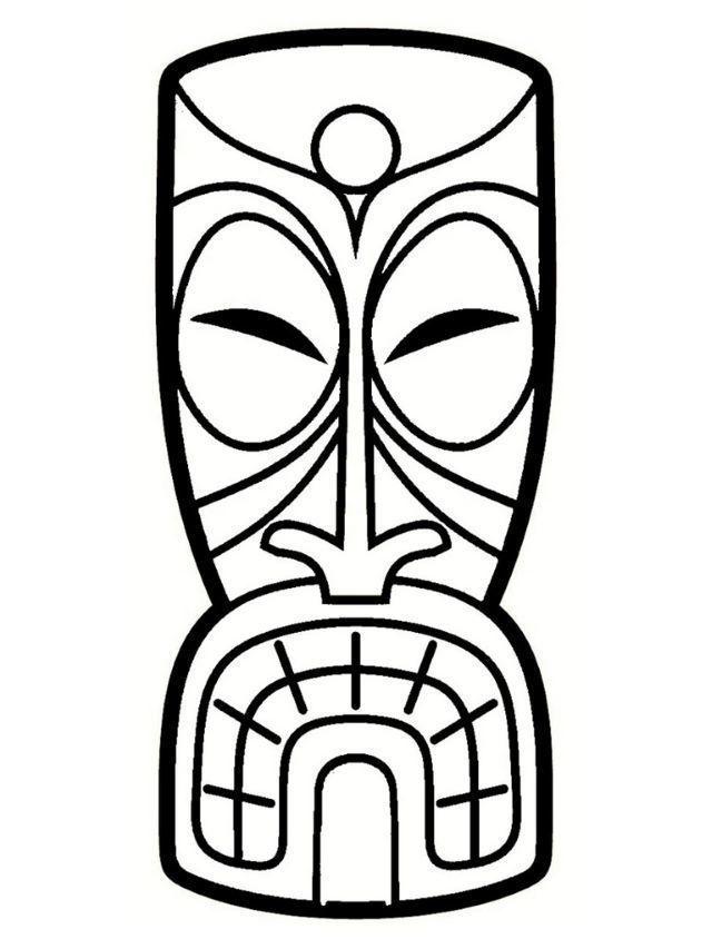 Totem Koh Lanta Coloriage Tiki Faces Tiki Art Tiki Totem