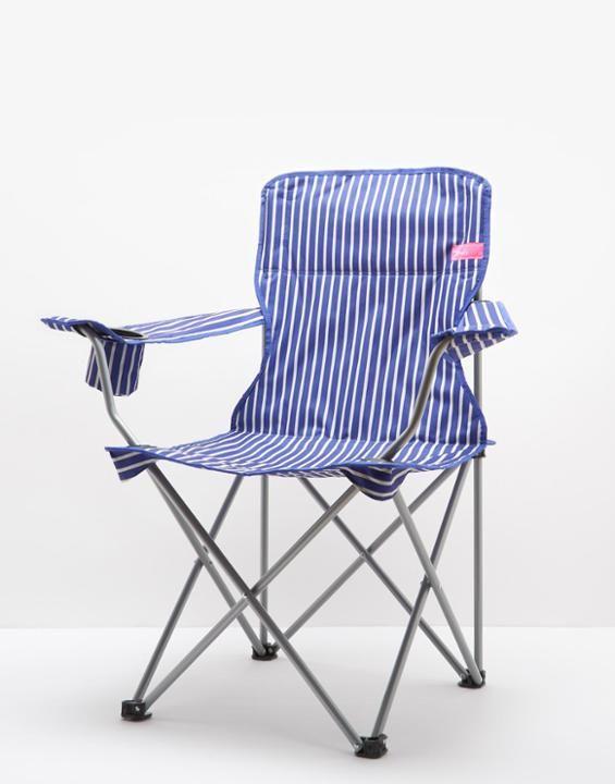 Lazychair Deep Blue Stripe Garden Chair Size One Size