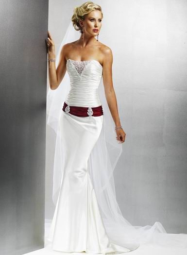 USD$199.99 - New Style Cheap romantic Strapless Embroider with ...