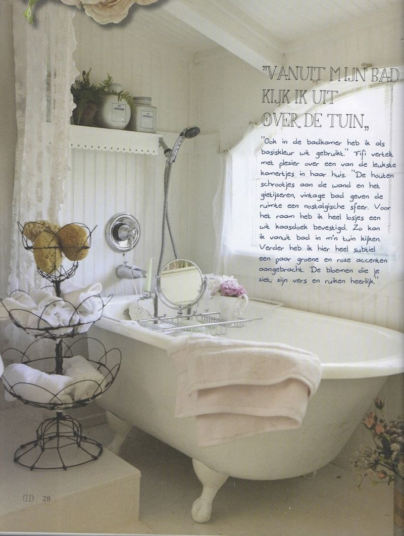 Bathroom White Chippy Shabby Chic