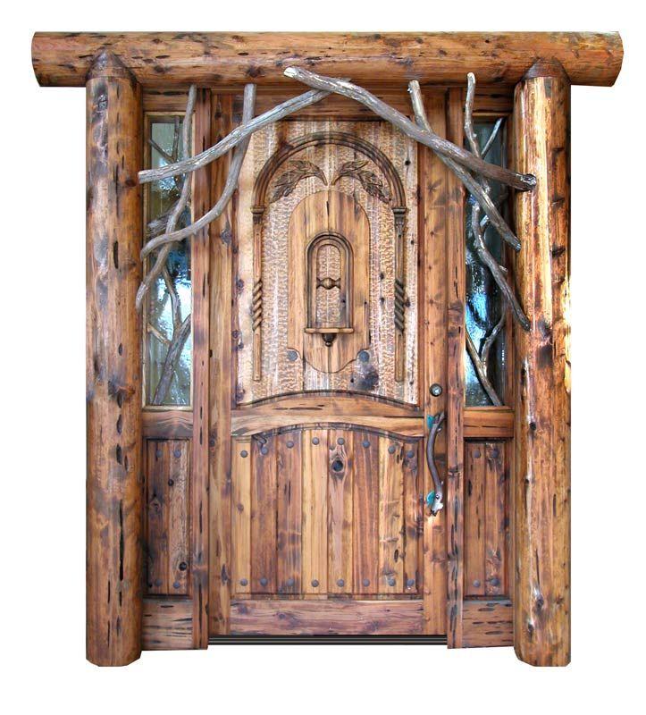 Custom hand carved entrance door. - (Designed by Scottsdale Art ...