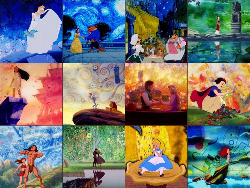 Disney in art