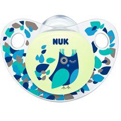 NUK Night: A chupeta que brilha no escuro. Sem anel, disponível em látex ou silicone e em 3 tamanhos (0-6m;6-18; 18-36m). Vários motivos disponíveis. A chupeta NUK Night brilha no escuro ajudando o bebé a encontrar a sua chupeta :) #chupetasnukprimavera