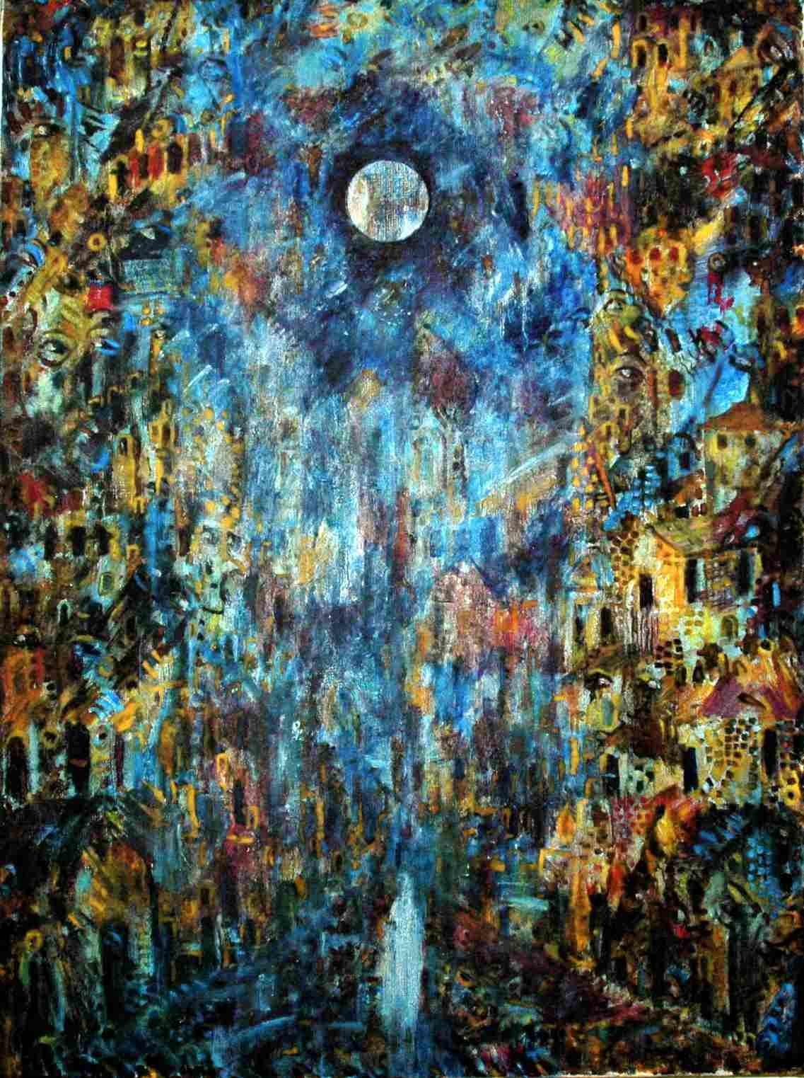 Worku Goshu Ethiopia Oil Canvas Abstract Expressionism