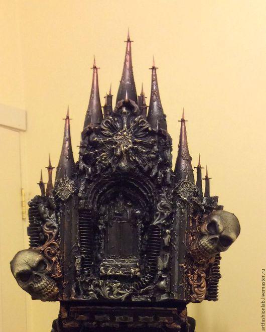 Готика ручной работы. Ярмарка Мастеров - ручная работа. Купить Готический замок. Handmade. Замок, череп, бутафория, пластик, акрил