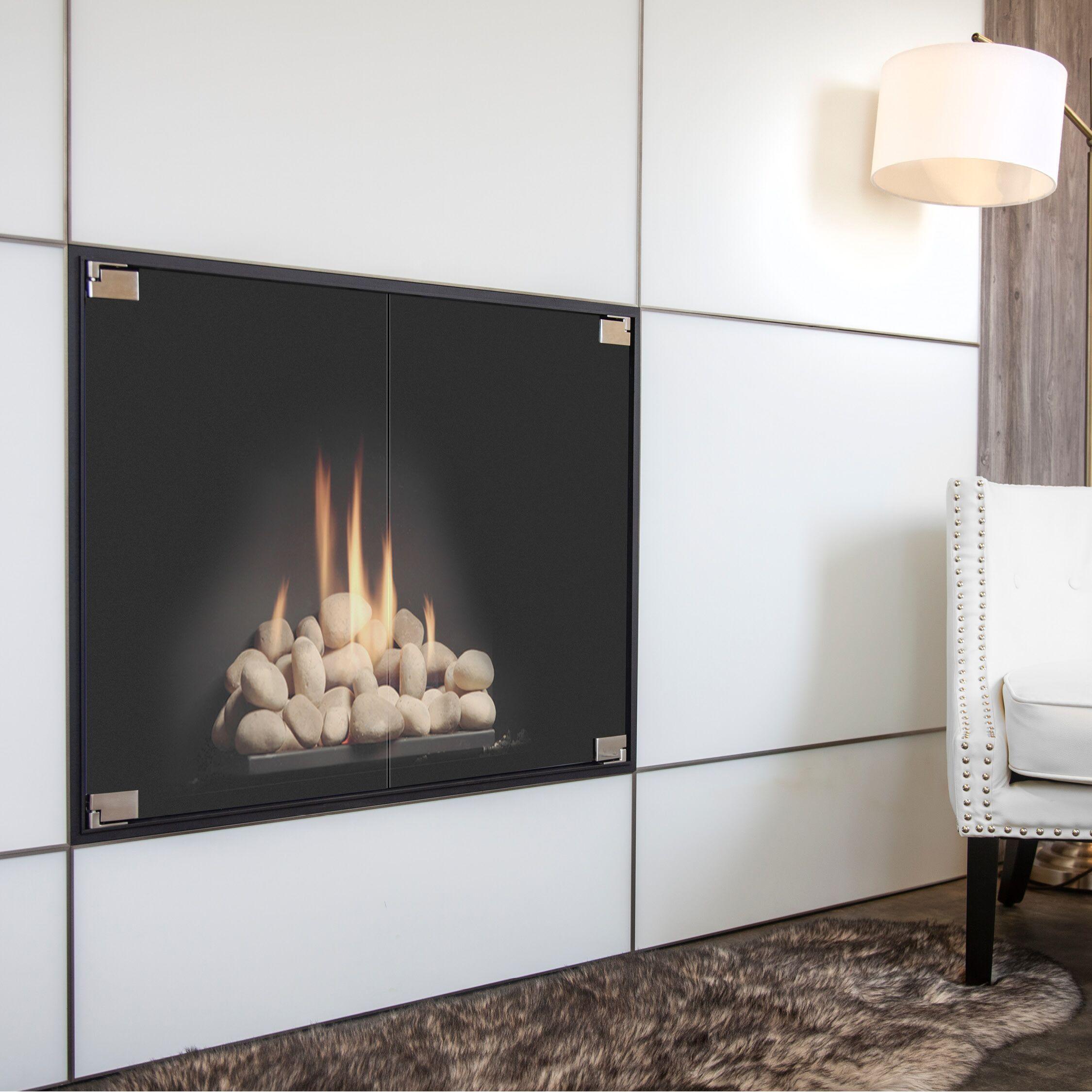 Elite Thinline Door Fireplace Doors Minimalist Fireplace Fireplace Glass Doors