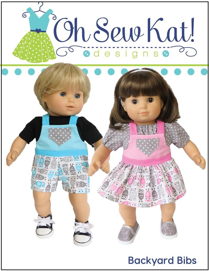 15 Inch Baby Doll Clothes Pattern Overalls And Peasant Top Skirt Bundle Sewing Pattern Pdf Digital To Make Overalls Skirt Top In 2020 Baby Doll Clothes Patterns