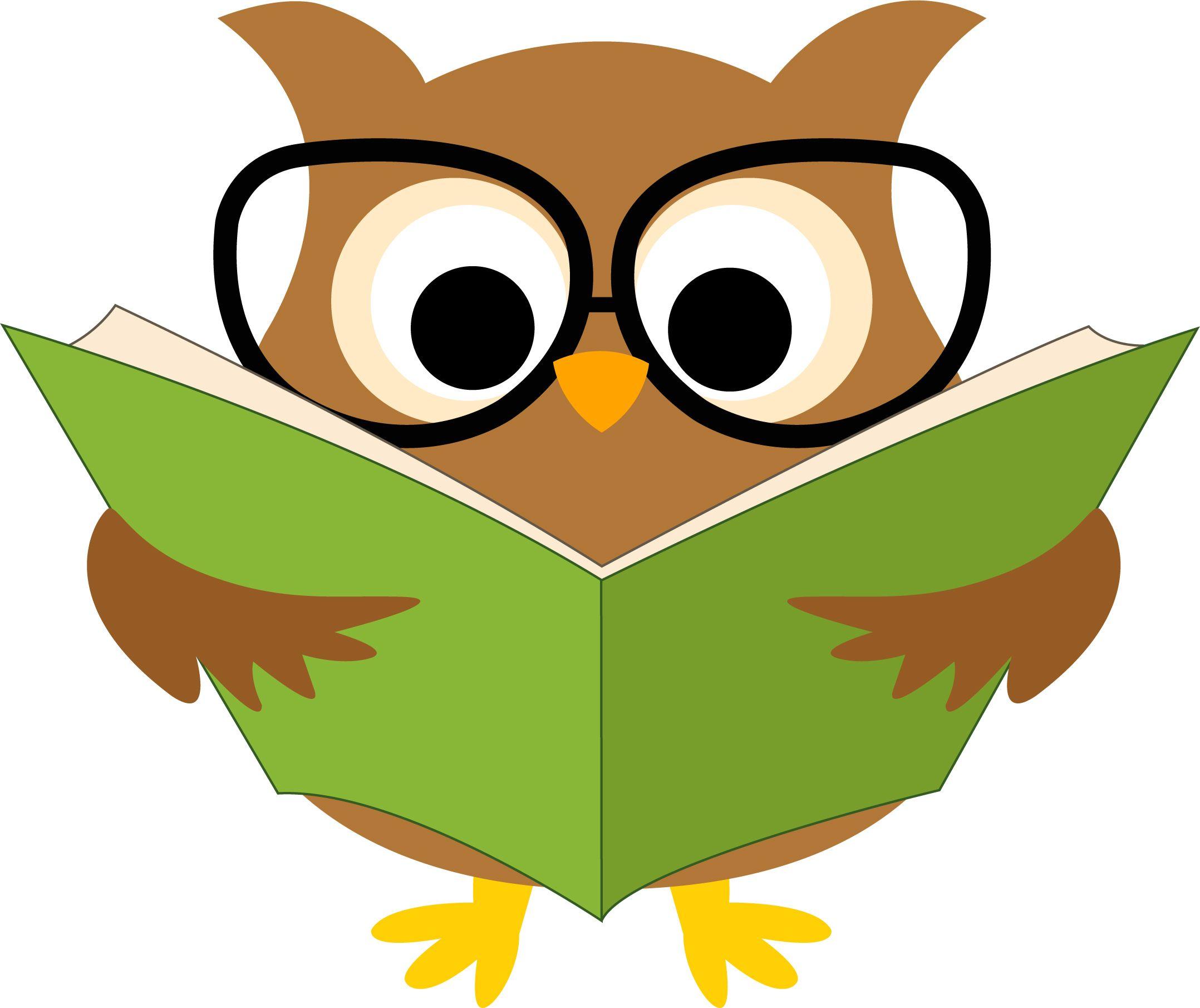 Картинка книги и сова