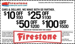 Firestone Coupons 2019 70 Off Oil Change Brakes Tires