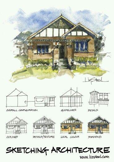 Classic Craftsman Architecture SketchesInterior