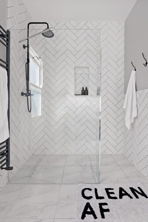 Cool Bathroom Tile Ideas From Metro Tiles To Fish Scale Herringbone With Images White Laundry Rooms Metro Tiles Bathroom Tile Bathroom