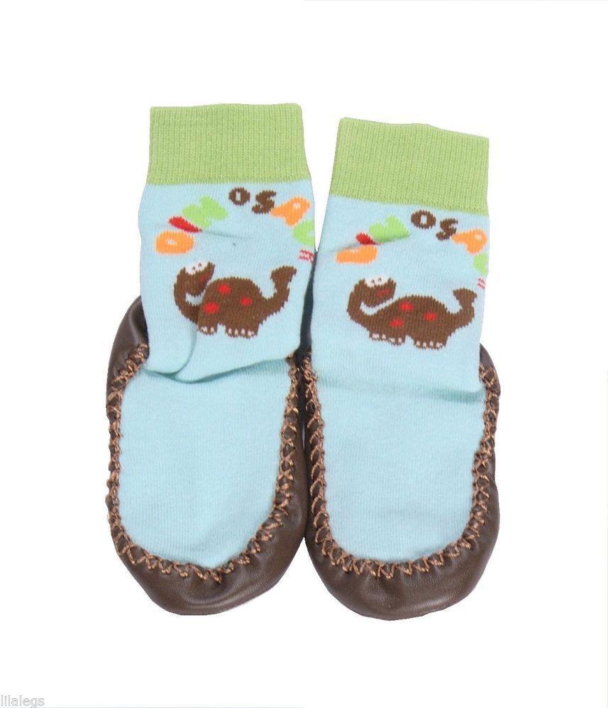 Dino Socks Non Skid Leather Sole Baby Lila Legs Pinterest