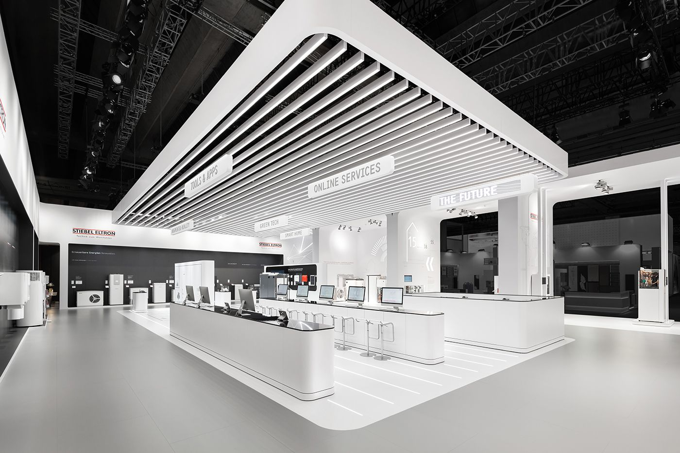 Dart stages the fair appearance of stiebel eltron at ish for Design museum frankfurt