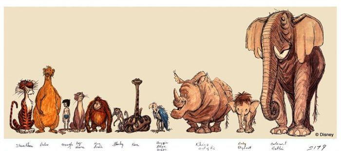 Jungle Book S Rocky The Rhino Concepts Animated Views Jungle Book Characters Walt Disney Animation Studios Disney Concept Art