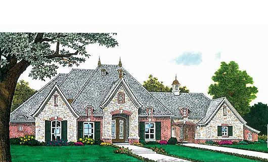 With porte cochere and utility w/master | Dream Home | House plans