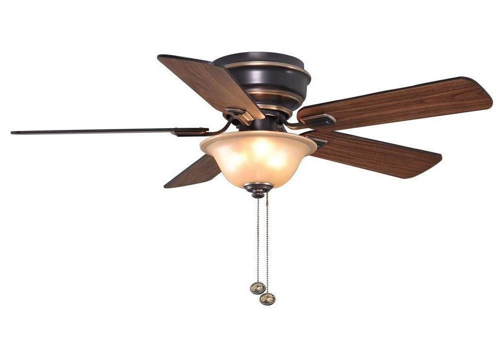 Hampton Bay Hawkins 44 In Tarnished Bronze Ceiling Fan Light Kit 122855 New Hamptonbay Transitional