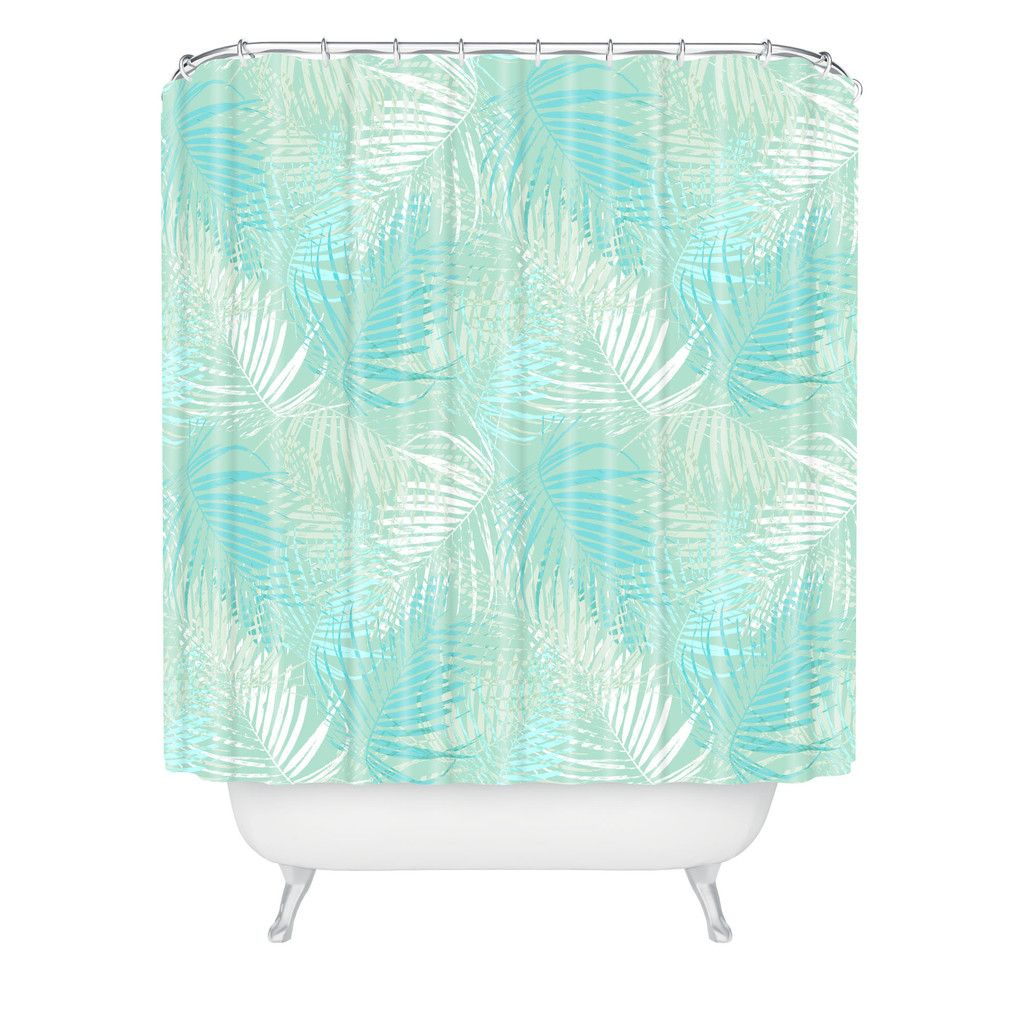Aimee St Hill Pale Palm Shower Curtain | DENY Designs Home Accessories