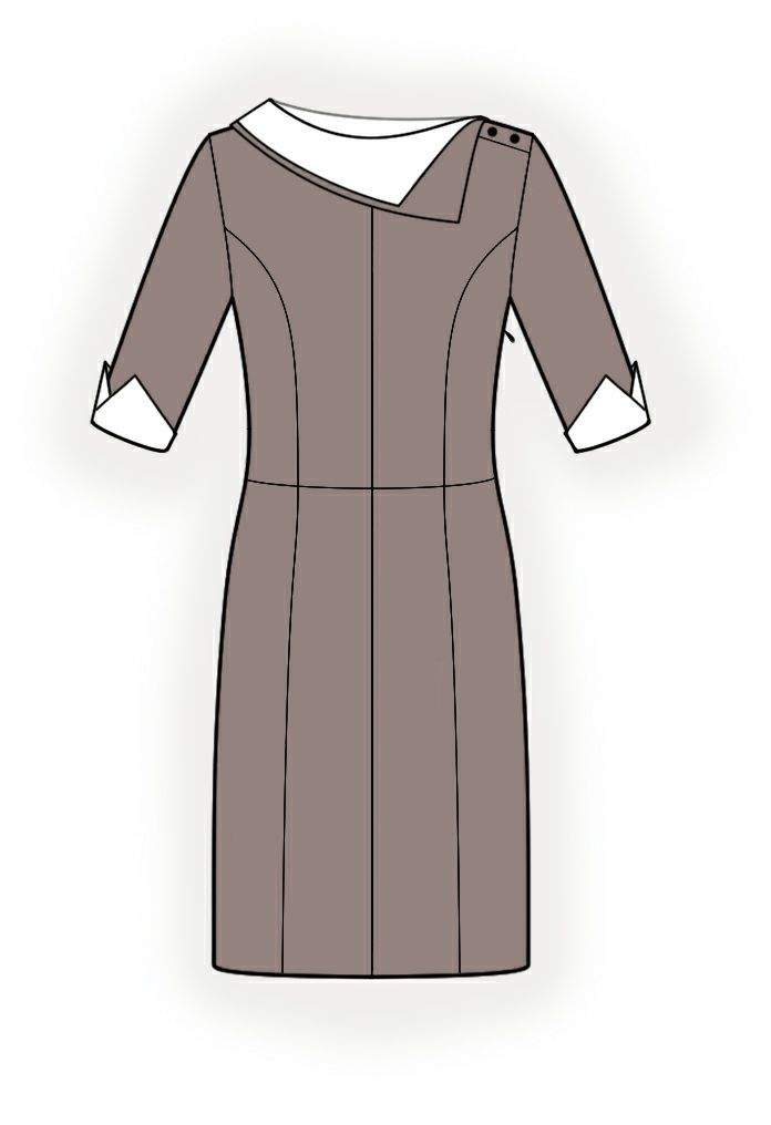Dress With Collar - Sewing Pattern #4251. Made-to-measure sewing ...