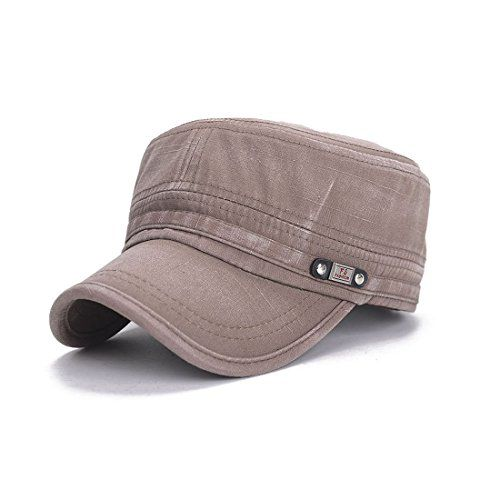 Sunbo Men Vintage Army Military Retro Distressed Flat Hat Cap.. amazon.co. 3143a77a451