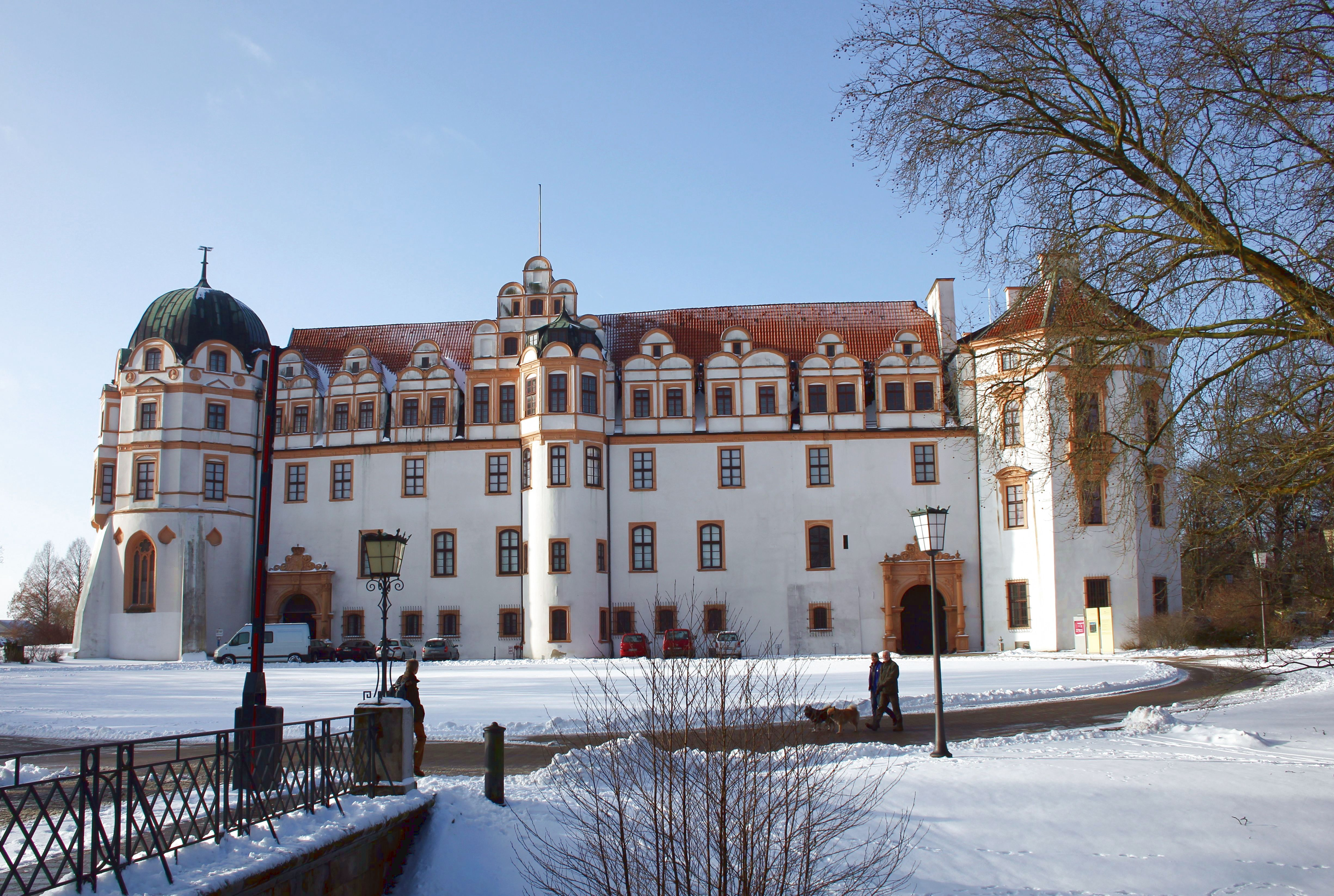 Vorderansicht Von Unserem Schloss Im Winter Deutschland Burgen Burgen Und Schlosser Burg