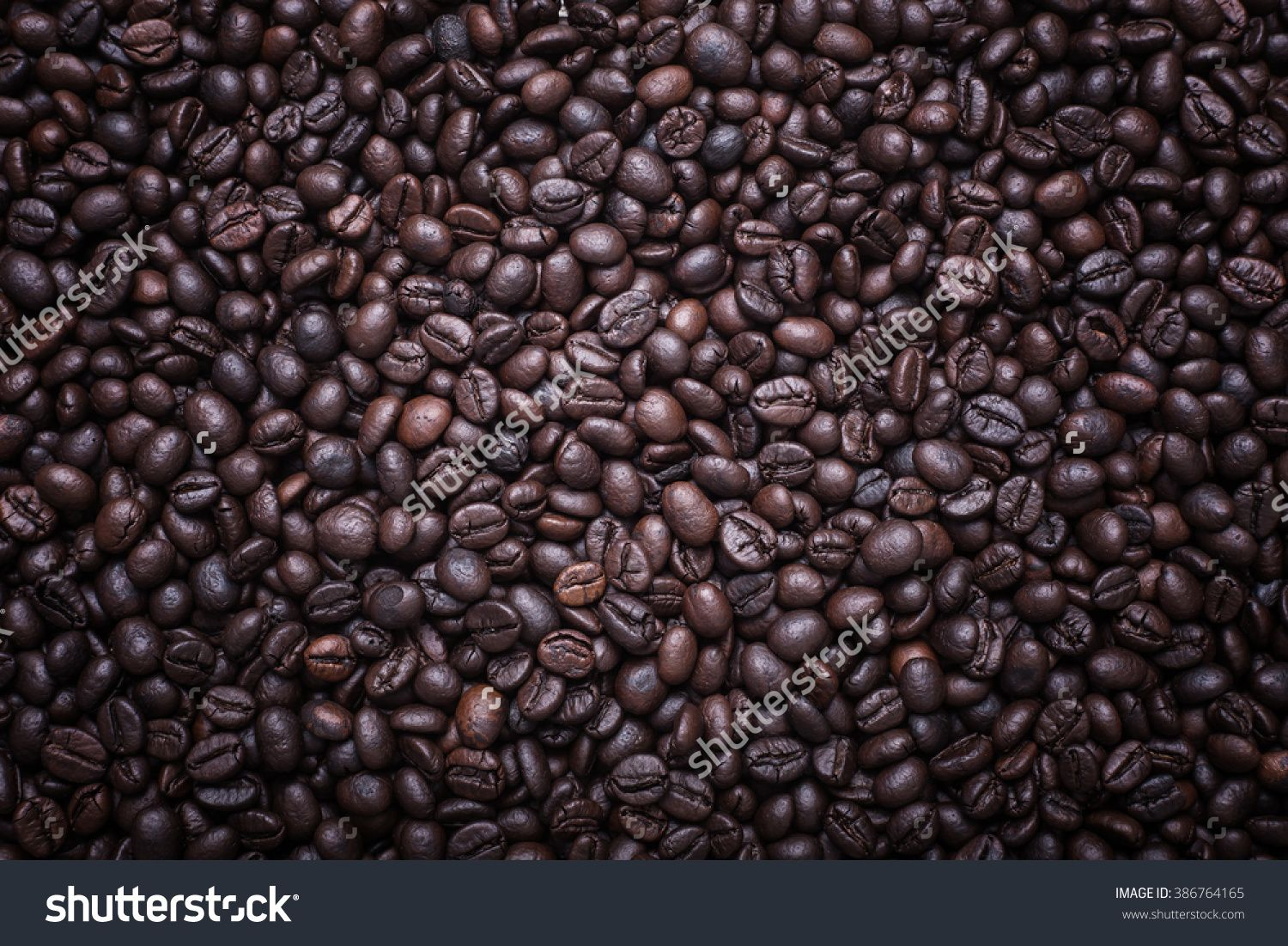 Close Up Pattern Of Coffee Beans, Can Use For Background