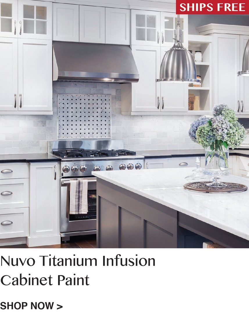 Nuvo Titanium Infusion Cabinet Paint Kit | Kitchen remodel ...