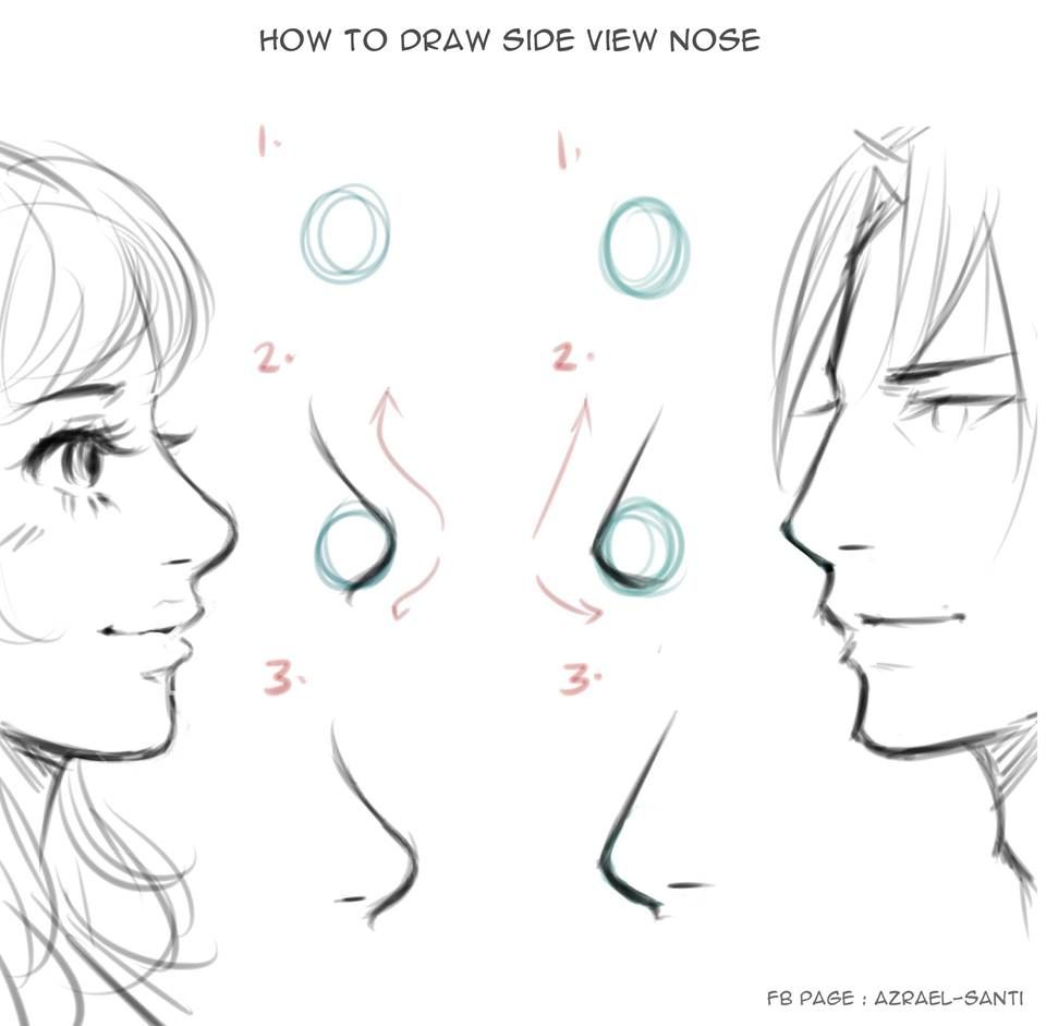 How To Drawnose Sideview By Azrael Santi Nose Drawing Drawings Art Sketches