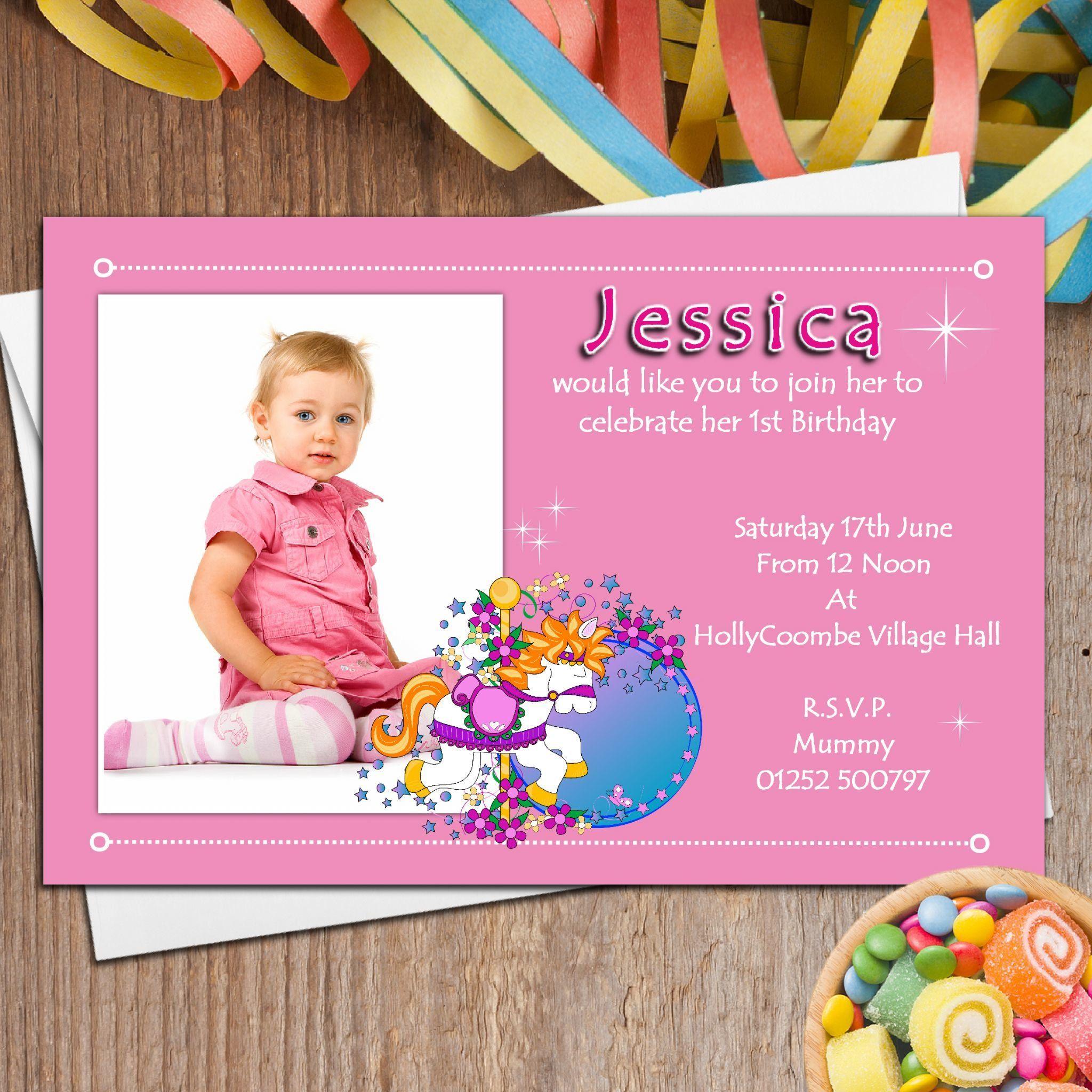 Custom Birthday Invitations Free Template