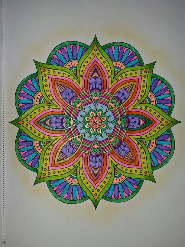 Groovy Mandala Colored Pencils Gel Pens And Markers