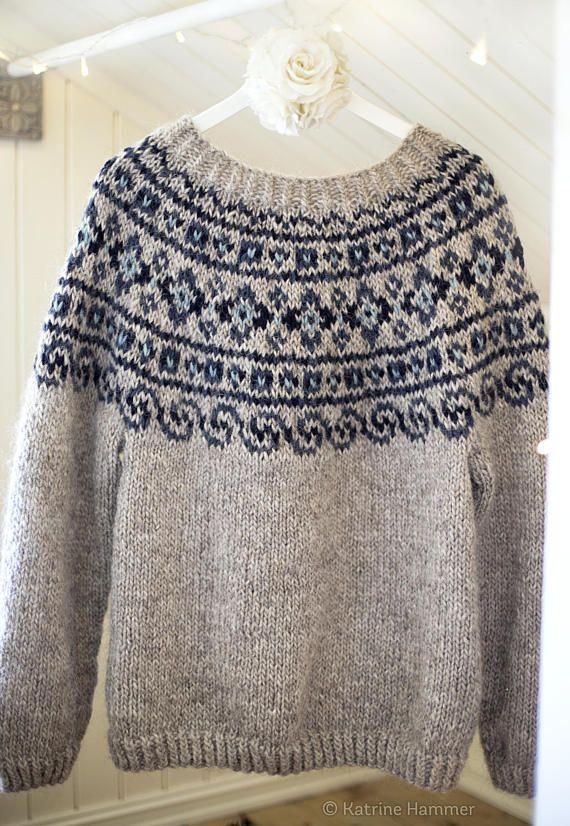 Knitting Pattern Steinkriger Beautiful Norwegian Sweater