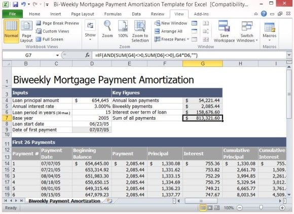 Loan Amortization Templates - Loan amortization schedule By