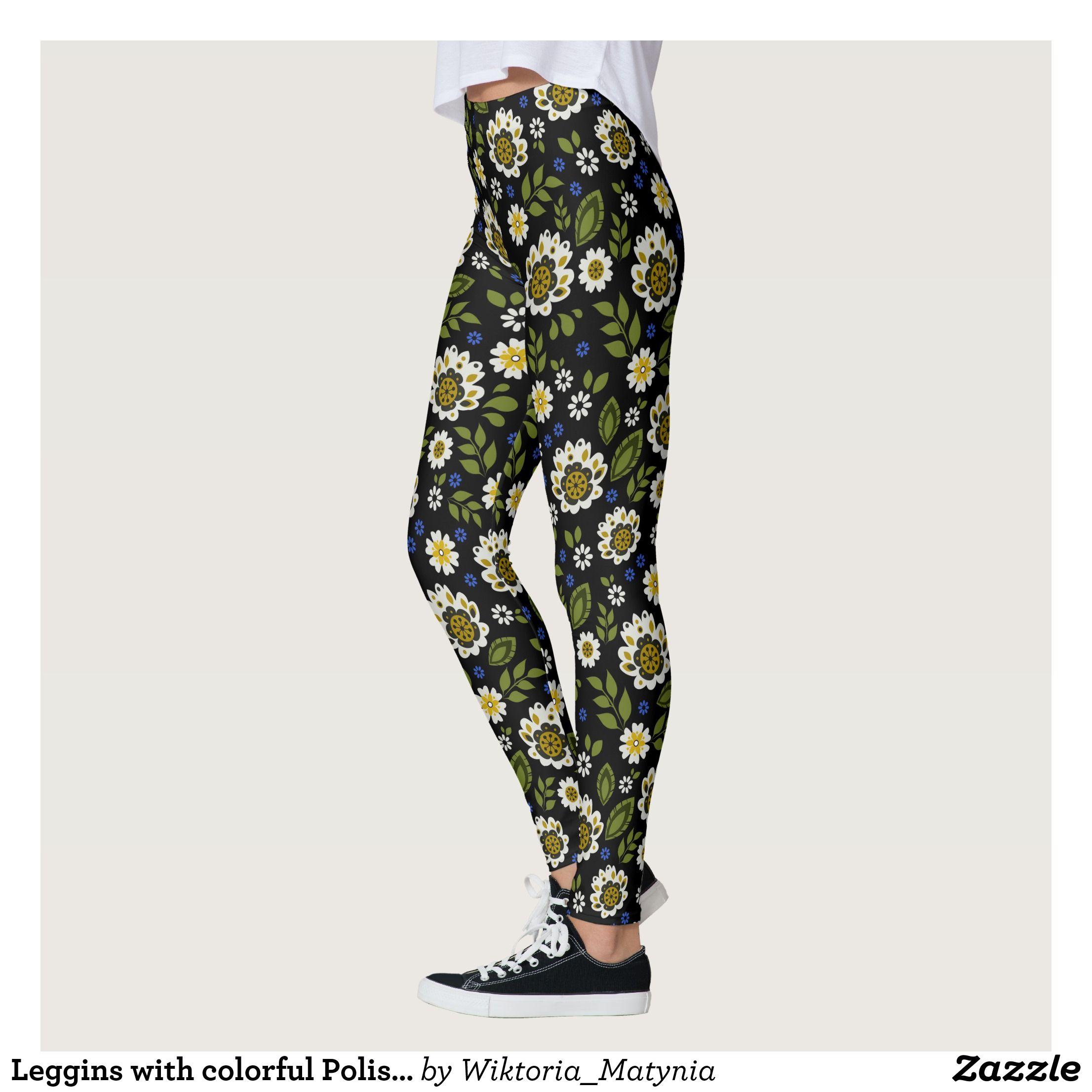 Leggins With Colorful Polish Folk Pattern Leggings Zazzle Com