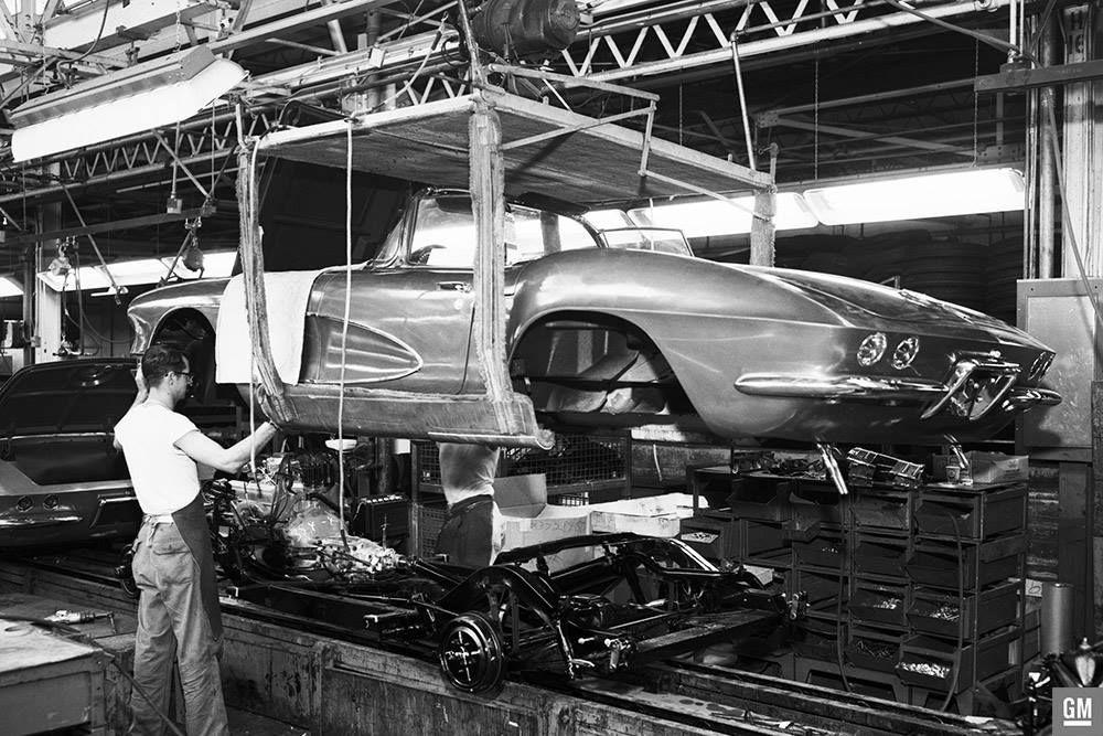 61 Corvette Body Drop St Louis Plant Corvette, Chevrolet