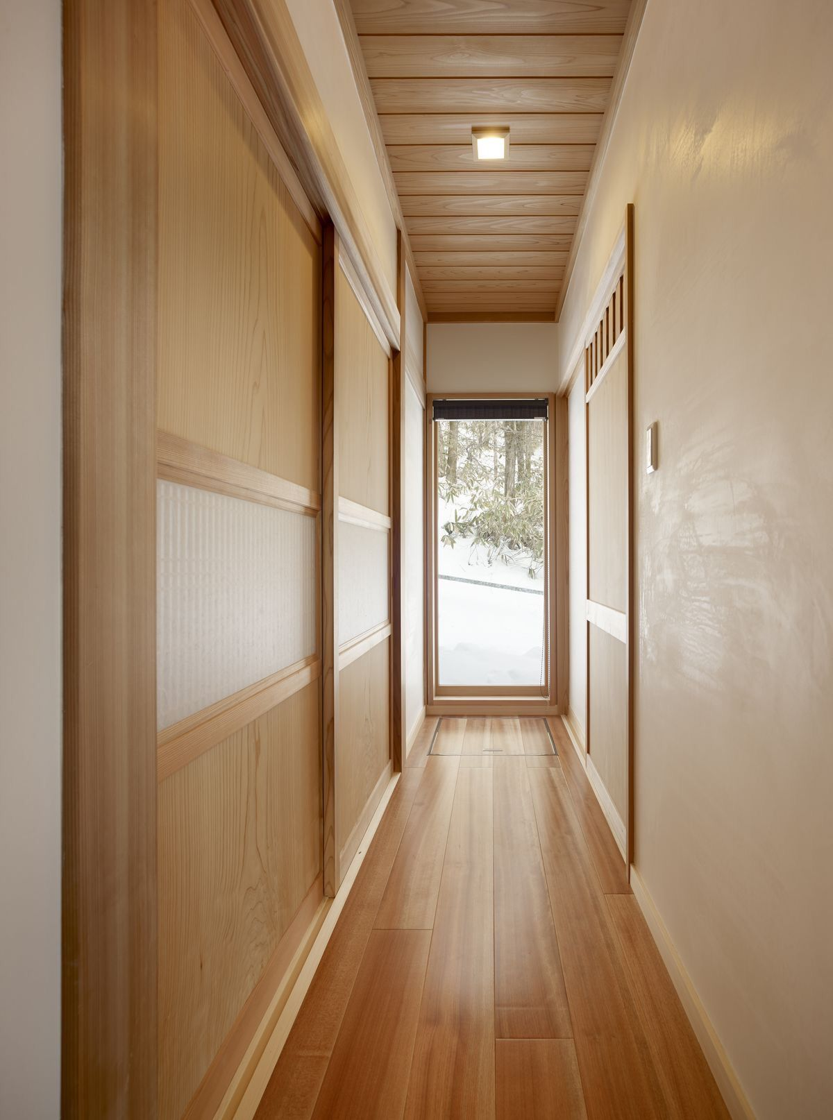 大阪の家 チークの床 そりっど設計室 新潟で材木屋による無垢材
