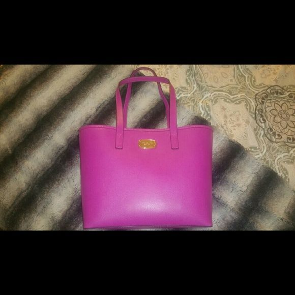 """NWT MK MICHAEL KORS FUSCHIA TOTE Model No. 38H5XTTT1L  Measurements: L 13"""" x D 5"""" x H 9""""  Strap Drop 9""""  Interior: Luxurious Interior Lining with multiple storage pockets and a zippered interior pocket.?  MSRP $228 + Tax Michael Kors Bags Totes"""