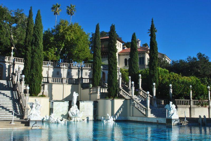 Hearst castle in san simeon ca amazing what a few dollars - Hearst castle neptune pool swim auction ...