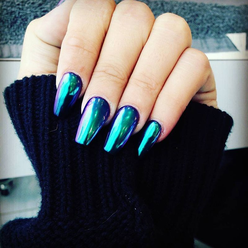 Mirrored Sunglasses Nail Polish Color Trend   Nail color trends ...
