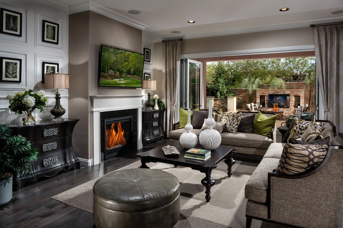 Amazing Transitional Living Room With Carpet, High Ceiling, Crown Molding, Hardwood  Floors, Metal Fireplace