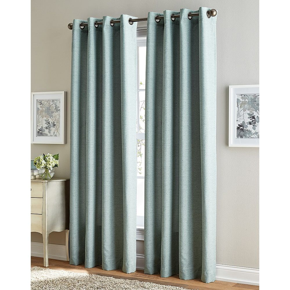 4 window curtain ideas  solid corissa room darkening inch grommet curtain panel blue