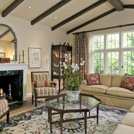 Tudor Style Living Room Design Ideas, Pictures, Remodel, and Decor - page 4