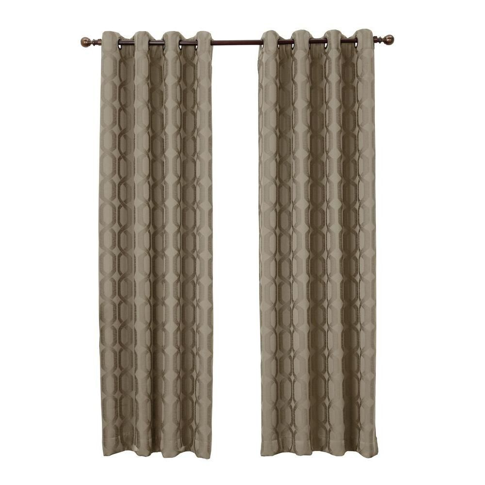 Sun Zero Sand Harold Blackout Curtain Panel, 52 in. W x 84 in. L - 43063 - The Home Depot